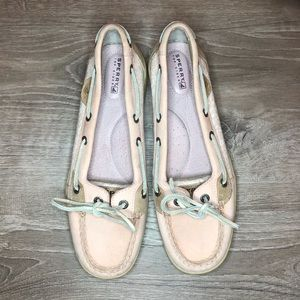 Sperry top sider light pink floral shoes